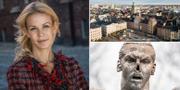 Till vänster: Finansborgarrådet Anna König Jerlmyr (M) TT