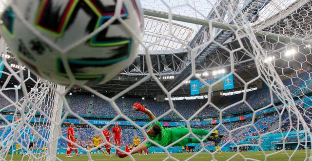 Det blev 3–2 till Sverige i matchen mot Polen i St Petersburg på onsdagen.   Dmitri Lovetsky / TT NYHETSBYRÅN