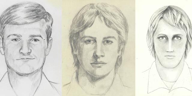 """FBI:s fantombilder på """"Golden state-mördaren."""" FBI"""