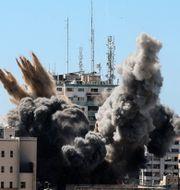 Bild från explosionen. Mahmud Hams / TT NYHETSBYRÅN