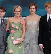 Daniel Radcliffe, JK Rowling, Emma Watson och Rupert Grint. Arkivbild. Joel Ryan / TT NYHETSBYRÅN