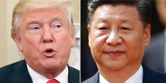 Trump och Xi, arkivbilder. TT