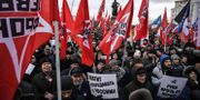 Protester hölls i Moskvar idag. ALEXANDER NEMENOV / AFP