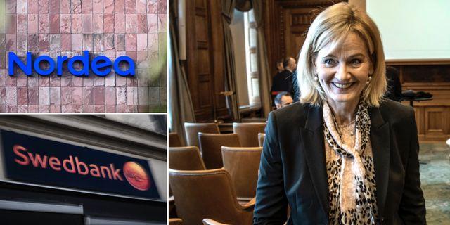 Handelsbankens vd Carina Åkerström.  TT