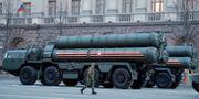 En S-400 i Moskva.  Tatyana Makeyeva / TT NYHETSBYRÅN