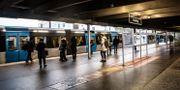 Tunnelbanestation i Stockholm. Helena Landstedt/TT / TT NYHETSBYRÅN