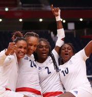Frankrikes landslag efter OS-guldet SIPHIWE SIBEKO / BILDBYRÅN