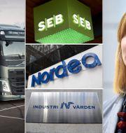 Volvolastbilar, SEB, Nordea, Industrivärden och Investors finansdirektör Helena Saxon. TT
