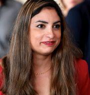 Vänsterpartiets partiledare Nooshi Dadgostar. Stina Stjernkvist/TT / TT NYHETSBYRÅN