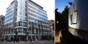 Londonkontoret till vänster. TT