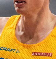 Kalle Berglund springer i mål. JOEL MARKLUND / BILDBYRÅN