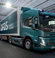 DFDS beställer 100 el-lastbilar av Volvo lastvagnar. På bilden modellen Volvo FM Electric. VOLVO / TT NYHETSBYRÅN