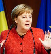 Tysklands förbundskansler Angela Merkel  FABRIZIO BENSCH / TT NYHETSBYRÅN