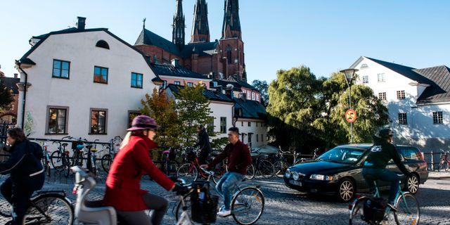 Cyklister i Uppsala. Arkivbild. Pontus Lundahl/TT / TT NYHETSBYRÅN