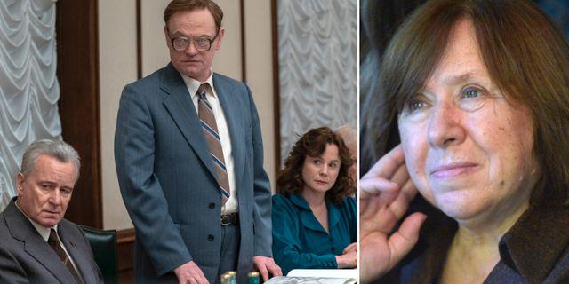 "Scen ur ""Chernobyl"" och Svetlana Aleksijevitj. HBO Nordic/TT"