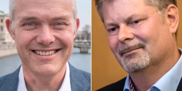 Jonas Attenius (S) och Axel Josefsson (M). Arkivbilder. Socialdemokraterna, TT