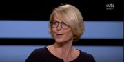 M:s ekonomiskpolitiska talesperson Elisabeth Svantesson i SVT:s Agenda. SVT