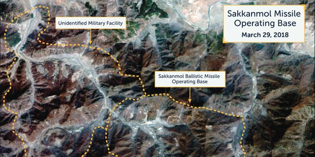 Satellitbild som påstås visa nordkoreansk bas. HANDOUT / TT NYHETSBYRÅN