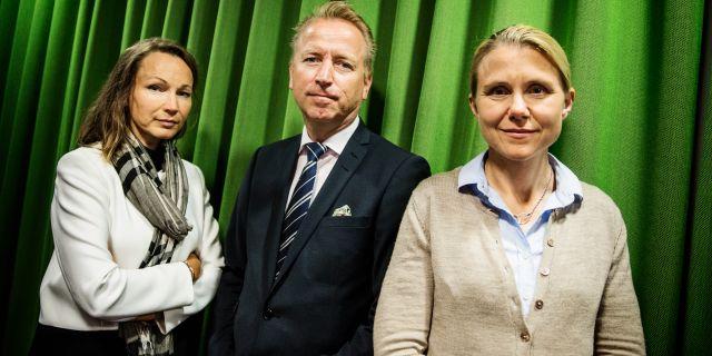 Alfred Bergs allokeringschef Jonas Olavi, i mitten. Emma-Sofia Olsson/SvD/TT / TT NYHETSBYRÅN