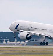 En av SAS nya långdistansmaskiner av typen Airbus A350-900 ( SE-RSA ) startar från Kastrup ( CPH - Copenhagen Airport) i början på oktober 2020. Johan Nilsson/TT / TT NYHETSBYRÅN