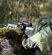 Soldat på amfibieregementet i Berga.  Henrik Montgomery/TT / TT NYHETSBYRÅN