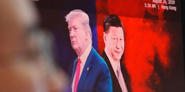 Donald Trump och Xi Jinping.  Ahn Young-joon / TT NYHETSBYRÅN