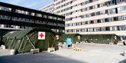 Sjukvårdstält utanför Östra sjukhuset i Göteborg Adam Ihse/TT / TT NYHETSBYRÅN