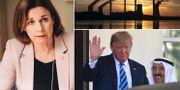 Isabella Lövin (MP), Donald Trump och emiren av Kuwait Sheikh Sabah Al Ahmad Al Sabah TT