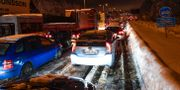 Bilkö på E4:an i höjd med Helenelund i Sollentuna kommun. Maja Suslin/TT / TT NYHETSBYRÅN