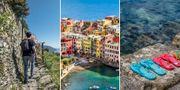 Flipflips är inte längre tillåtet på vandringslederna i Cinque Terre. Getty/Istock/Pexels