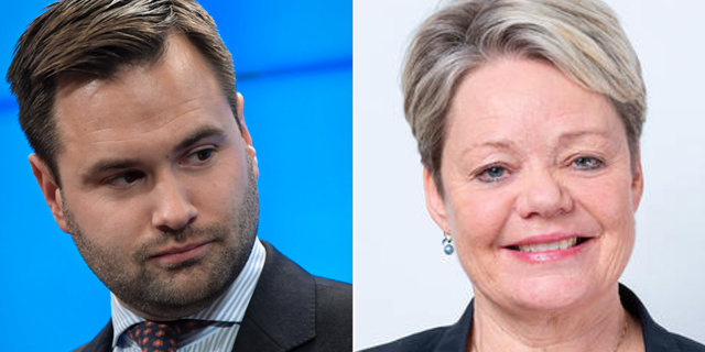 Erik Bengtzboe och Lotta Finstorp. TT/Moderaterna Södermanland