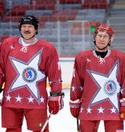 Lukasjenko och Putin/Arkivbild från 2014 Alexei Nikolsky / TT NYHETSBYRÅN