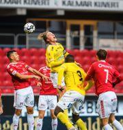 Bild från dagens match.  SUVAD MRKONJIC / BILDBYRÅN
