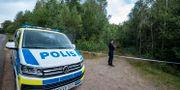 Polis i Markaryd. Johan Nilsson/TT / TT NYHETSBYRÅN