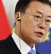 Sydkoreas president Moon Jae-in. Lisa Leutner/TT
