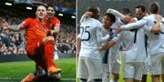 Bilder från Liverpools och Manchester Citys matcher 2013. TT