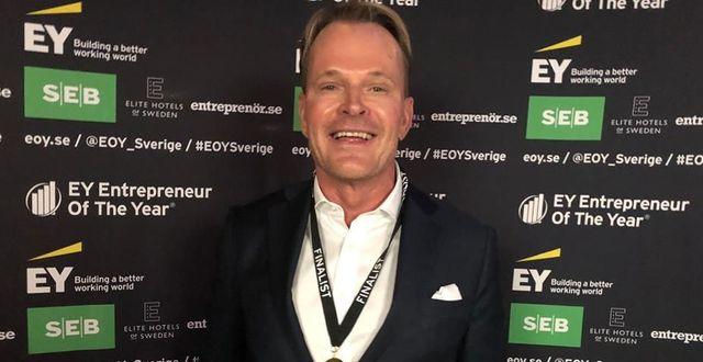 Urban Edenström efter att han vunnit EY Entrepreneur Of The Year Sverige tidigare i våras.