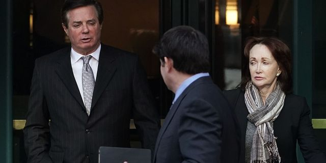 Paul Manafort och hustrun Kathleen Manafort. ALEX WONG / GETTY IMAGES NORTH AMERICA