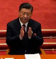 Kinas president Xi Jinping under årets upplaga av folkkongressen.  Andy Wong / TT NYHETSBYRÅN