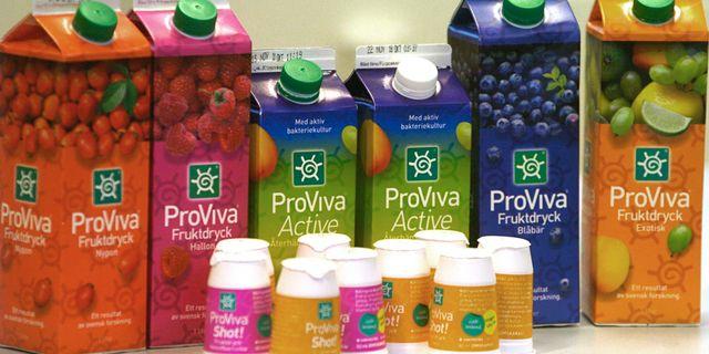 Skånemejeriers produkt Proviva innehåller probioter – hälsosamma bakterier – framställda av Probi. Arkivbild. Ingvar Karmhed / SvD / TT / svd