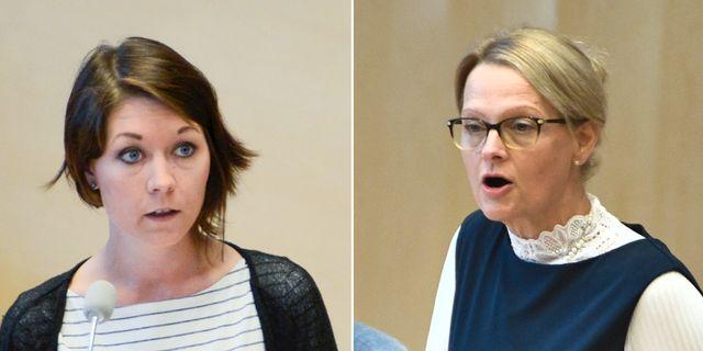 Maria Ferm och Heléne Fritzon. TT