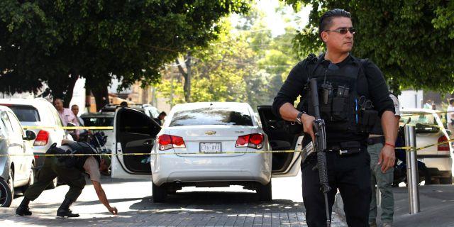 Illustrationsbild. En polis i Guadalajara.  ULISES RUIZ / AFP