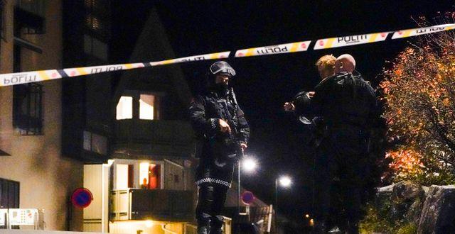 Polisinsatsen i Kongsberg i Norge Håkon Mosvold Larsen / TT NYHETSBYRÅN