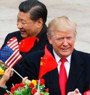 Donald Trump mötte Kinas ledare Xi Jinping i Peking i november 2017. Andy Wong / TT NYHETSBYRÅN