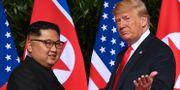 Kim och Trump vid förra mötet. SAUL LOEB / AFP