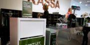Återvinningsstation för kläder i en H&M-butik. JESSICA GOW / TT / TT NYHETSBYRÅN