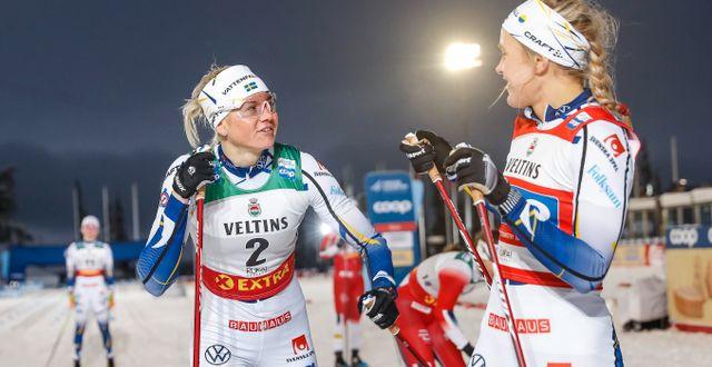 Maja Dahlqvist och Linn Svahn. TOMI HÄNNINEN / BILDBYRÅN