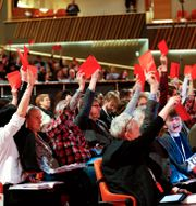 Bild från Vänsterpartets kongress 2018. Linn Malmén/TT / TT NYHETSBYRÅN