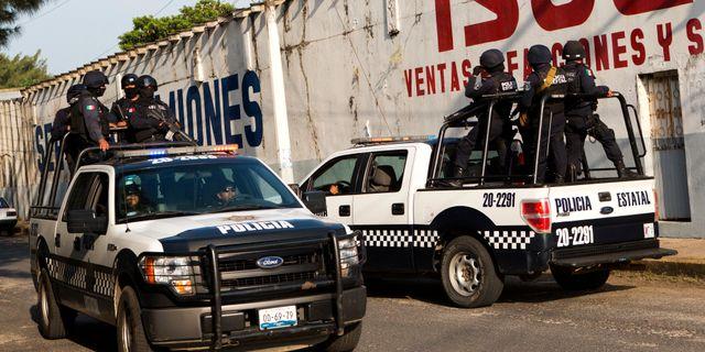 Illustrationsbild, poliser i Mexiko. Rebecca Blackwell / TT / NTB Scanpix