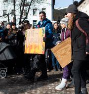 Klimatmanifestation under årets möte i januari.  Gian Ehrenzeller / TT NYHETSBYRÅN